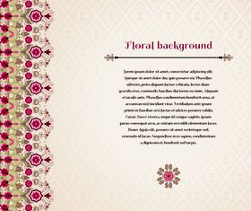Florals backgrounds 2 vectors