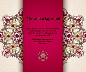 Florals backgrounds 4 vector