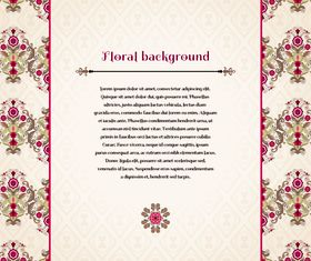 Florals backgrounds 5 vector