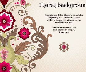 Florals backgrounds 11 vector