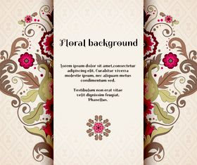 Florals backgrounds 12 vector