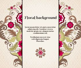 Florals backgrounds 17 vector