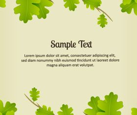 Green leaf background 2 Illustration vector