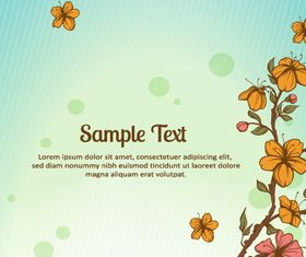 Small flower background 1 vectors