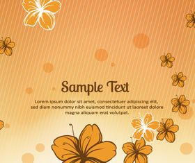 Small flower background 2 vectors