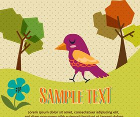 Bird background 1 design vector