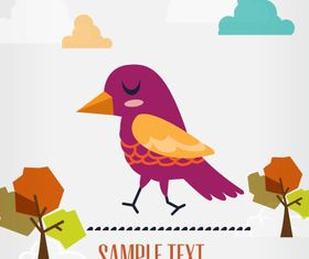 Bird background 2 design vector