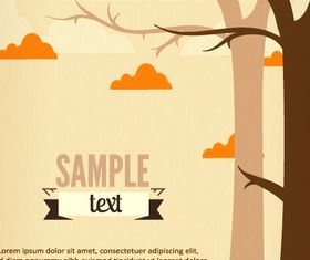 Tree background vectors graphic