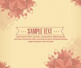 Background floral shiny vector