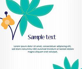 Cartoon flower background shiny vector