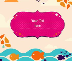 Cartoon Fish background 1 vector