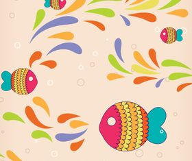 Cartoon Fish background 2 vector