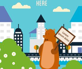 Cartoon Bear background 2 vector