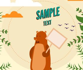 Cartoon Bear background 3 vector
