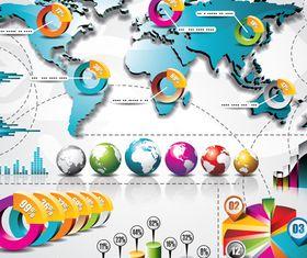 Infographics background 42 vector
