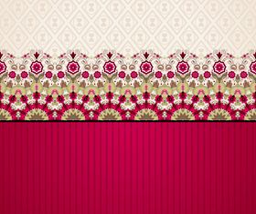 Lace floral background 1 vector