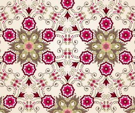 Lace floral background 3 vector