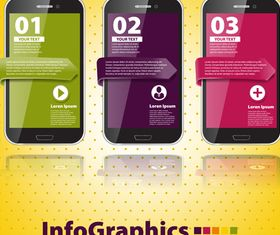 Infographics background 1 vector material
