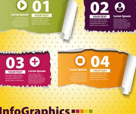 Infographics background 2 vector material