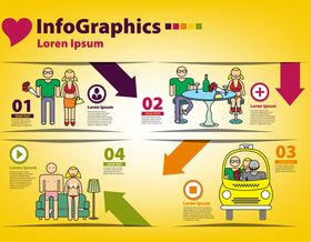 Infographics background 6 vector material