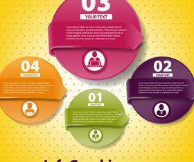 Infographics background 10 vectors material