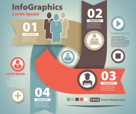 Infographics background 11 vectors material