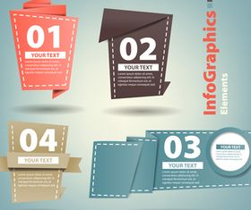 Infographics background 12 vector material
