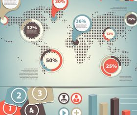 Infographics background 13 vector material