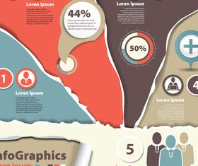 Infographics background 15 vector material