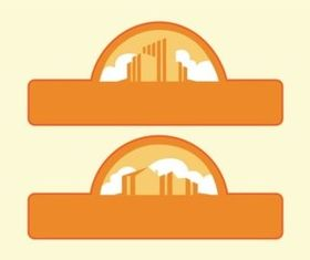 City Labels design vectors