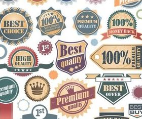 Retro Style Labels vector