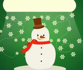 Cute snowman backgrounds 3 set vector
