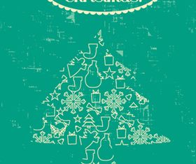 Christmas tree background 1 vector material
