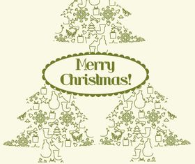 Christmas tree background 2 vector material