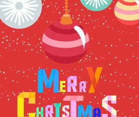 Merry Christmas color background 1 vector graphics