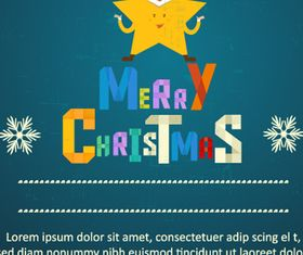 Merry Christmas color background 2 vector graphics