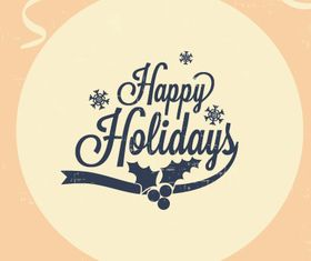 Happy Holidays background 2 design vector