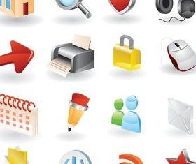 Web 3D Icons Vector shiny