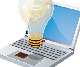 Notebook computer design vectors