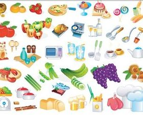 Kitchen Icons free vector