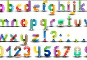 Bright Creative Alphabet set vector
