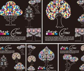 Fashion pattern trees vector