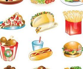 Tasty Fast Food vector