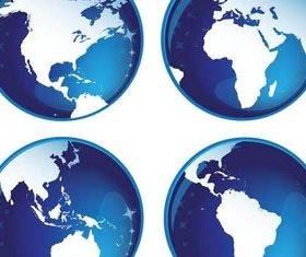 Blue Glass Globes vector design