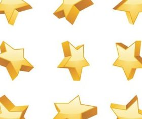 3D Stars set vector