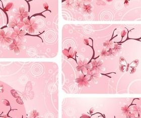 Pink peach blossoms Illustration vector