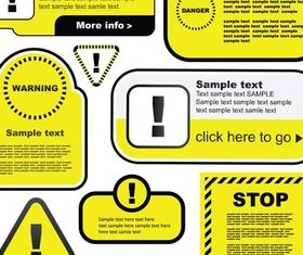 Yellow Warning Labels vector