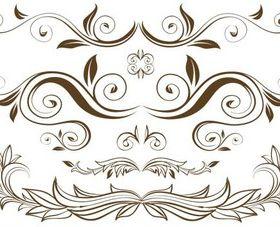 Floral Design Branches vector