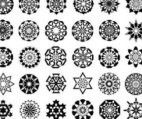 Round Ornaments free creative vector