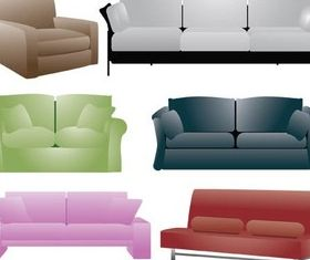 Color Couch free vector